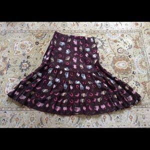 Cowboy print skirt